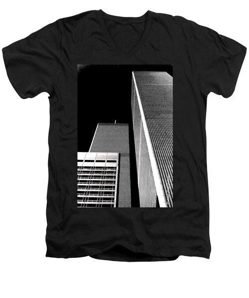 World Trade Center Pillars Men's V-Neck T-Shirt