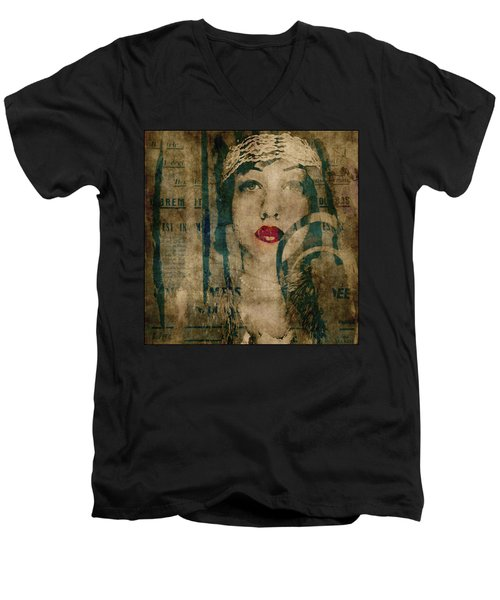 Men's V-Neck T-Shirt featuring the photograph World Without Love  by Paul Lovering