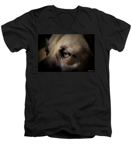 Men's V-Neck T-Shirt featuring the photograph Wounded by Betty Northcutt