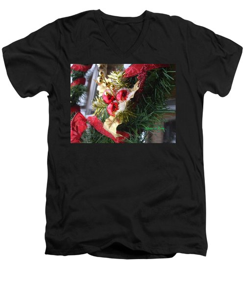 Men's V-Neck T-Shirt featuring the photograph Wreath by Shana Rowe Jackson