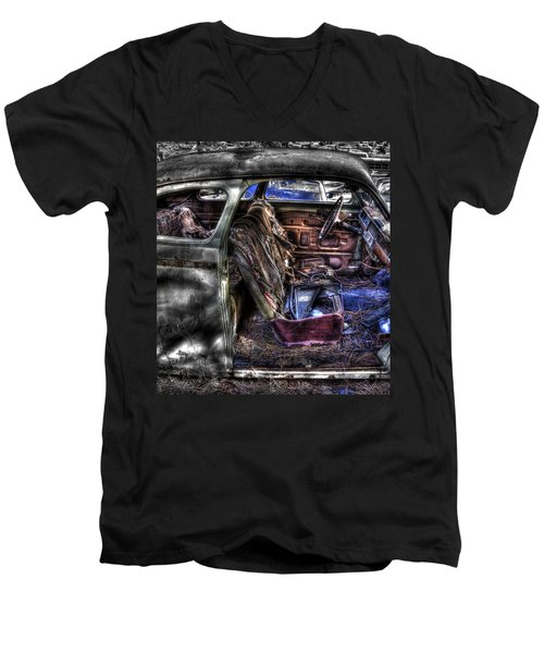 Wrecking Yard Study 1 Men's V-Neck T-Shirt