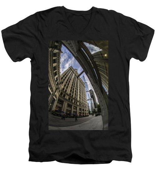 Wrigley And Trump A Fisheye View Men's V-Neck T-Shirt