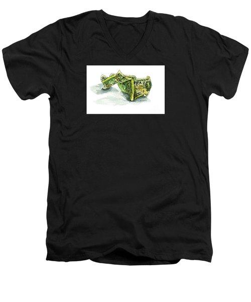 Wrinkled Dollar Men's V-Neck T-Shirt
