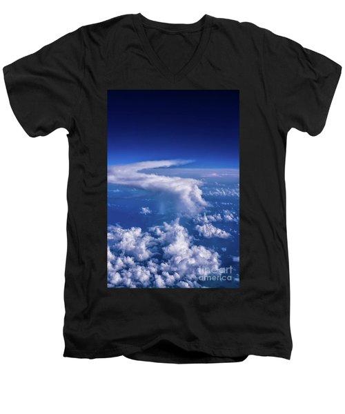 Writing In The Sky Men's V-Neck T-Shirt