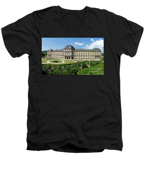 Wuerzburg Residence 1 Men's V-Neck T-Shirt by Rudi Prott