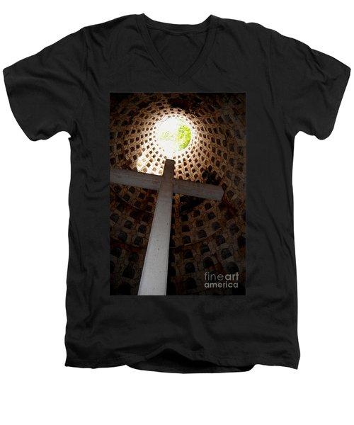 Xcaret Cemetery Catacomb Men's V-Neck T-Shirt