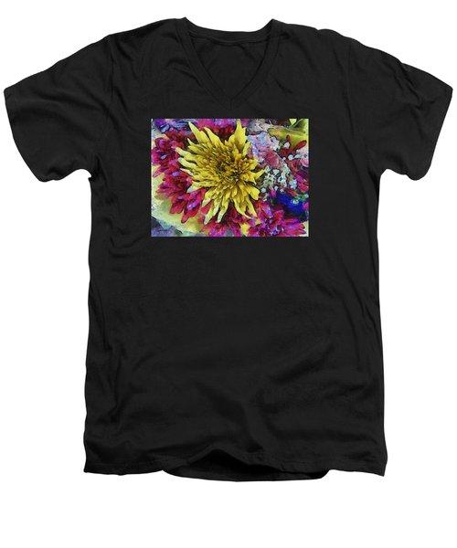 Xtreme Floral Thirteen Reaching Out Men's V-Neck T-Shirt