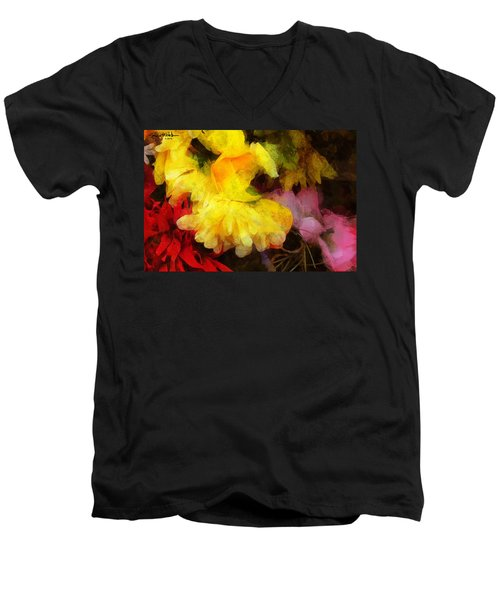 Xtreme Floral 18 Yellow Unfolding Men's V-Neck T-Shirt