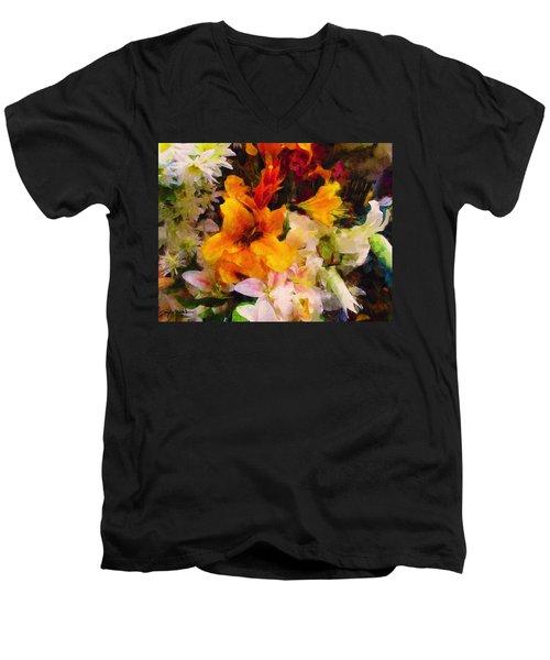 Say Ahhhh Xtreme Floral Twenty Men's V-Neck T-Shirt