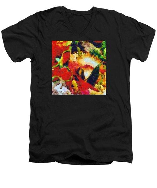 Xtreme Floral Four Men's V-Neck T-Shirt