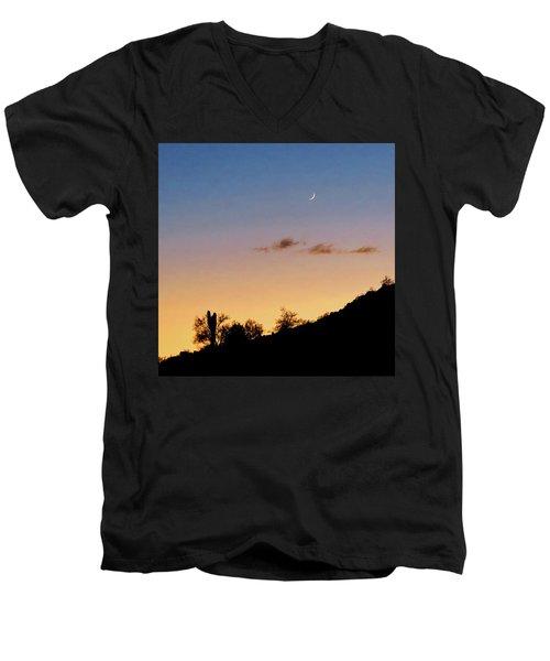 Y Cactus Sunset Moonrise Men's V-Neck T-Shirt