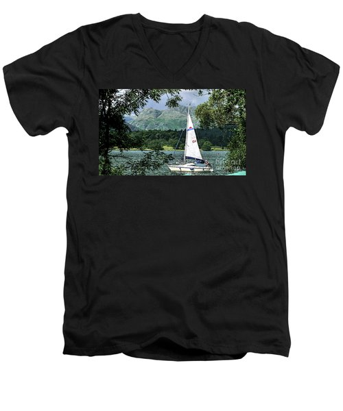 Yachting Lake Windermere Men's V-Neck T-Shirt