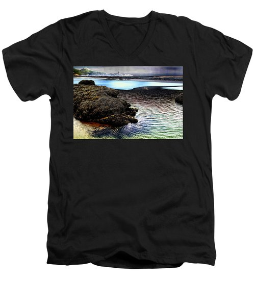Yaquina Dream Men's V-Neck T-Shirt by Mick Anderson