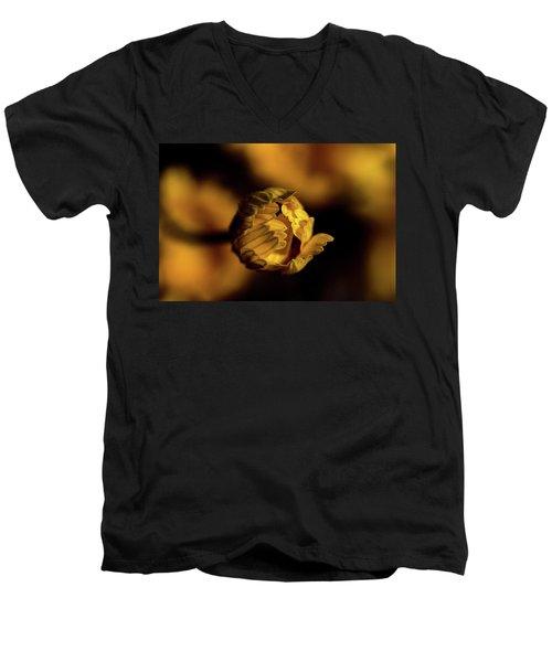 Yelllow Men's V-Neck T-Shirt