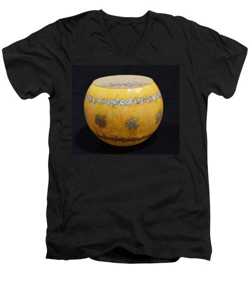 Yellow And White Vase Men's V-Neck T-Shirt