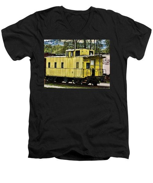 Yellow Caboose Men's V-Neck T-Shirt