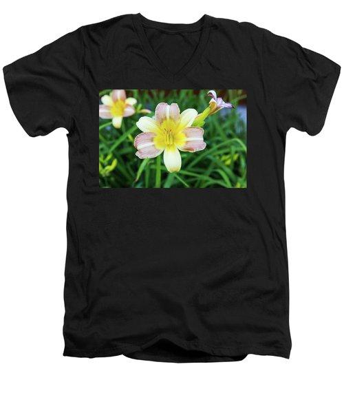 Yellow Daylily Men's V-Neck T-Shirt