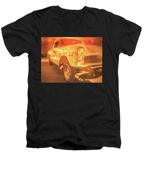 Yellow Gasser Men's V-Neck T-Shirt