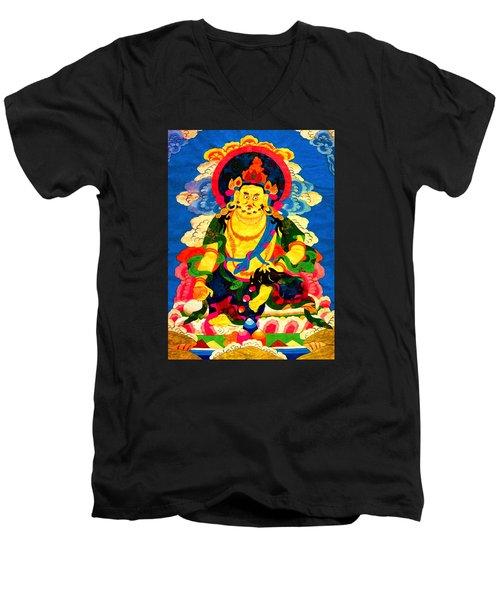 Yellow Jambhala 4 Men's V-Neck T-Shirt by Lanjee Chee