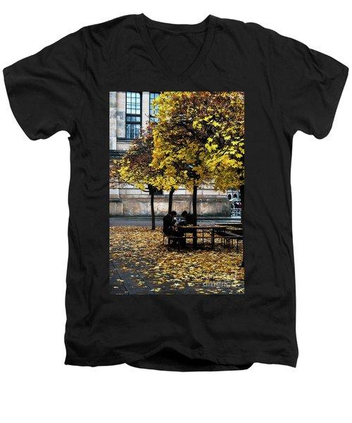 Yellow Lunch Men's V-Neck T-Shirt