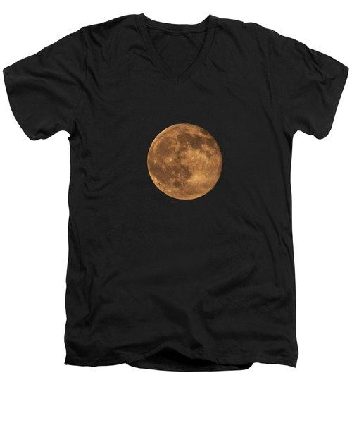 Yellow Moon Men's V-Neck T-Shirt by Gunter Nezhoda