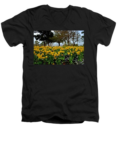 Yellow Tulips Of Fairhope Alabama Men's V-Neck T-Shirt