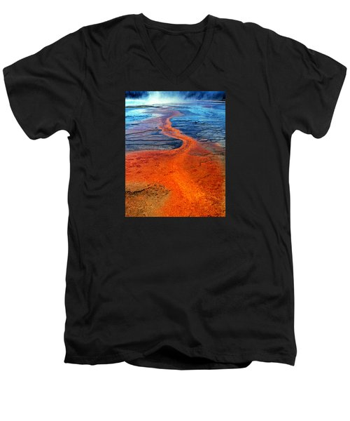 Yellowstone 1 Men's V-Neck T-Shirt by David Gilbert