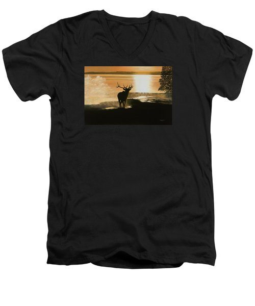 Yellowstone's Monarch Men's V-Neck T-Shirt