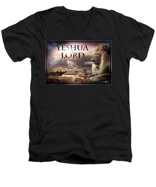 Yeshua Is Lord Men's V-Neck T-Shirt by Bill Stephens