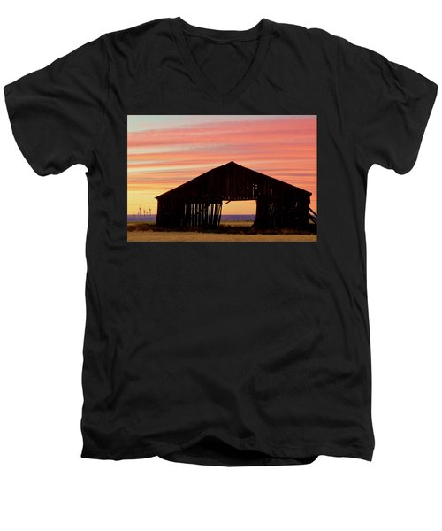 Yesterday And Today At Sunset Men's V-Neck T-Shirt