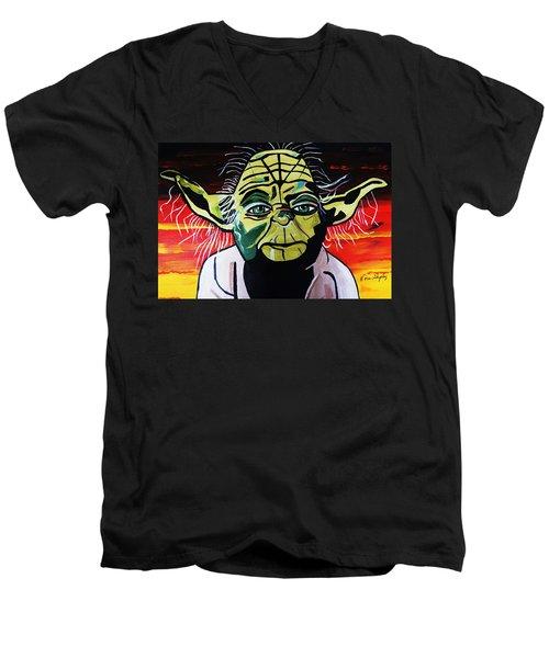 Yoda  Come Home Men's V-Neck T-Shirt by Nora Shepley