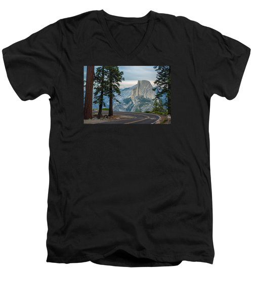 Yosemite Glacier Point Men's V-Neck T-Shirt