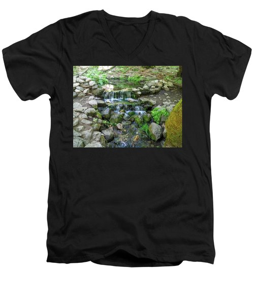 Yosemite Stream Men's V-Neck T-Shirt