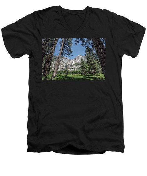 Yosemite View 13 Men's V-Neck T-Shirt by Ryan Weddle