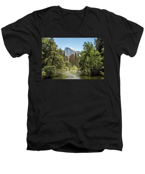 One Valley View Men's V-Neck T-Shirt by Ryan Weddle