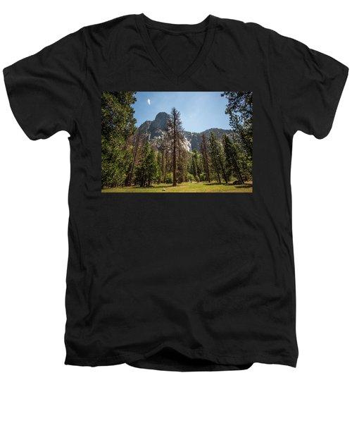 Yosemite View 18 Men's V-Neck T-Shirt by Ryan Weddle