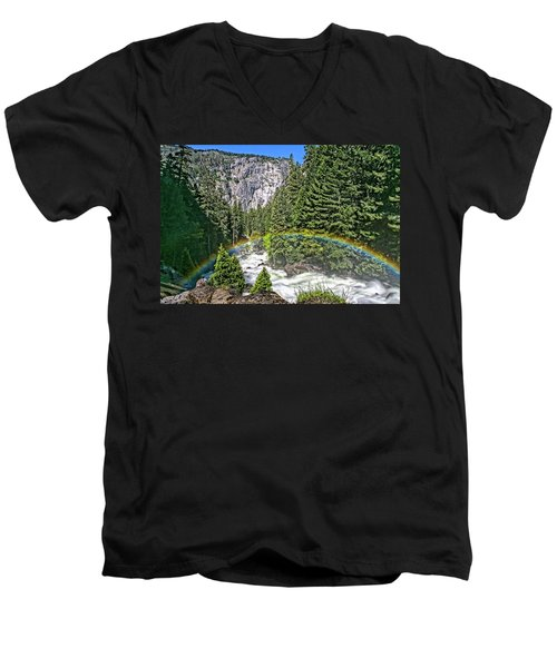 Yosemite View 29 Men's V-Neck T-Shirt by Ryan Weddle