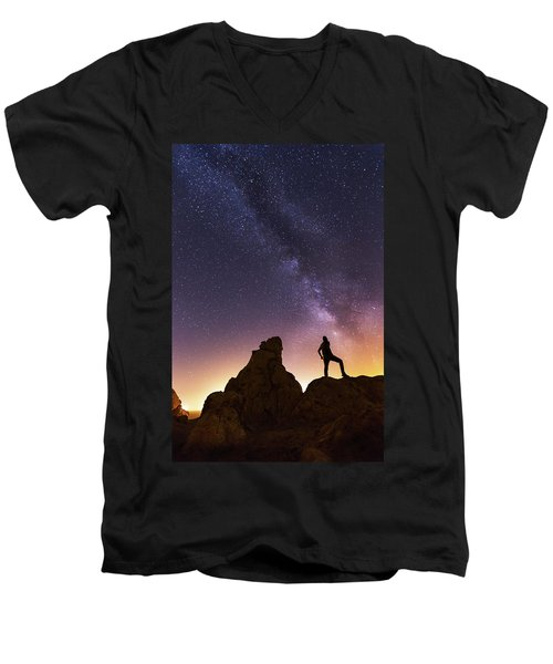 You Cant Take The Sky From Me Men's V-Neck T-Shirt by Tassanee Angiolillo