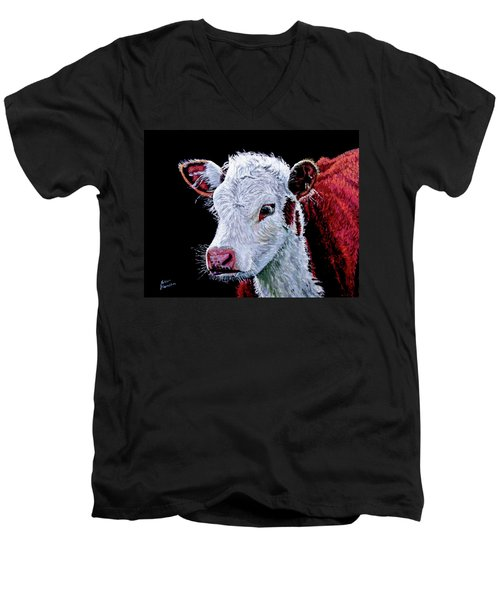 Young Bull Men's V-Neck T-Shirt