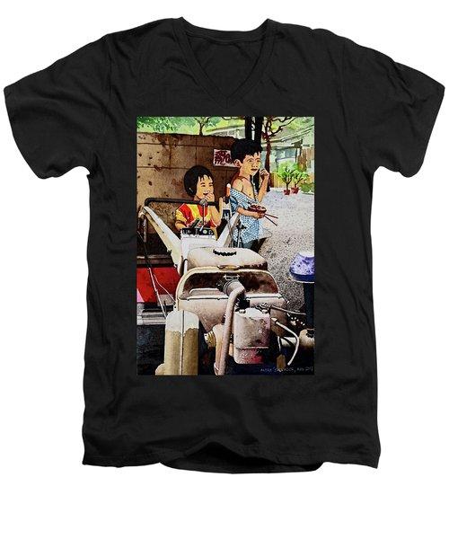 Young Farmer's Breaktime Men's V-Neck T-Shirt