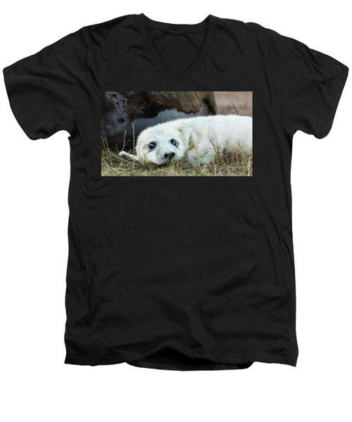 Young Pup Men's V-Neck T-Shirt
