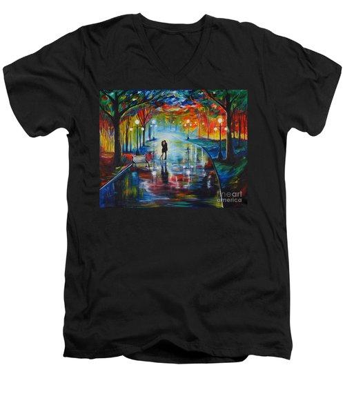 Your Love Men's V-Neck T-Shirt by Leslie Allen
