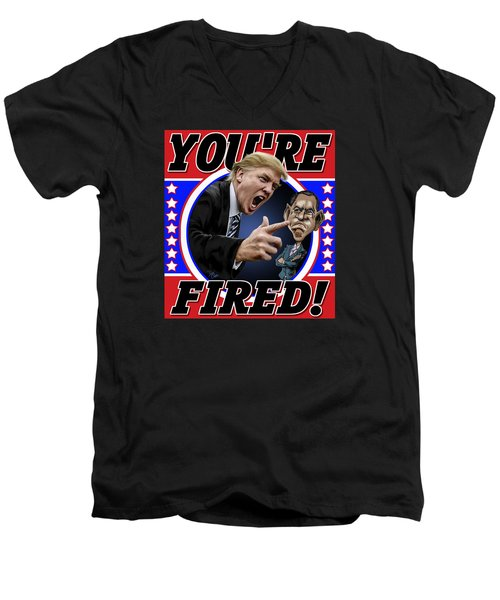 You're Fired Men's V-Neck T-Shirt by Don Olea