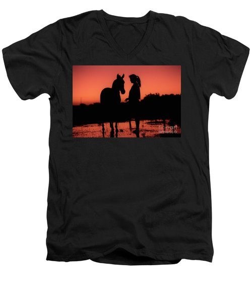 Men's V-Neck T-Shirt featuring the photograph Youth by Jim and Emily Bush