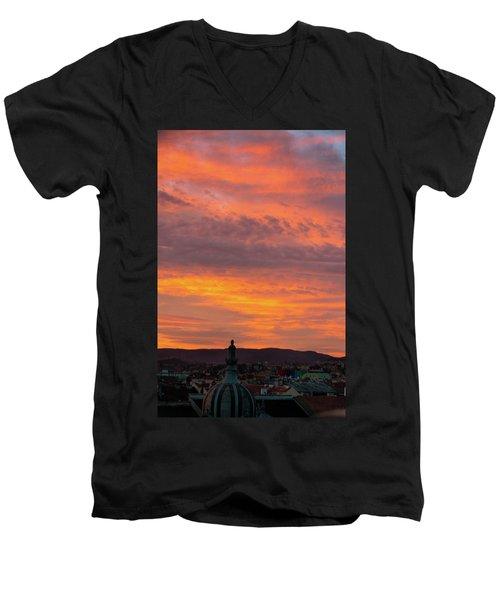 Zagreb Sunset 5 Men's V-Neck T-Shirt