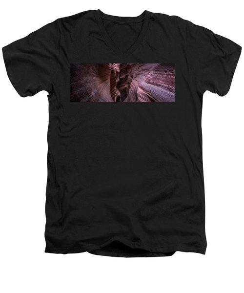 Men's V-Neck T-Shirt featuring the photograph Zebra Stripes by Edgars Erglis