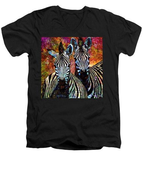 Zebras Men's V-Neck T-Shirt