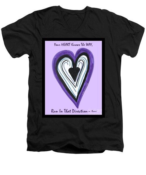 Zen Card Heart Path Men's V-Neck T-Shirt