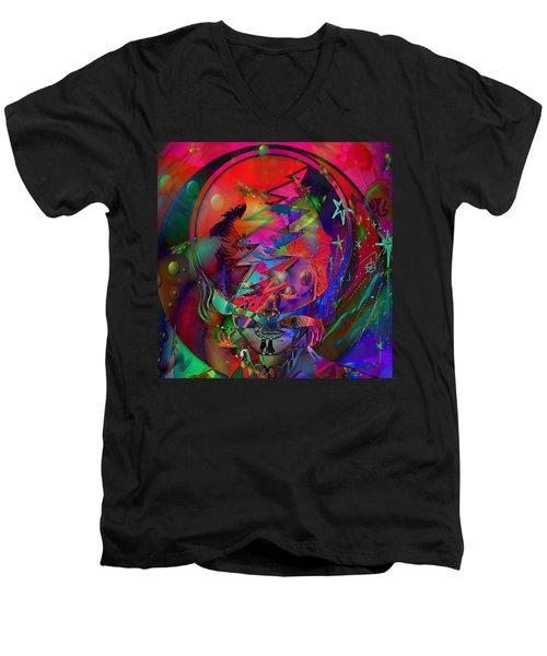 Ziggy  Men's V-Neck T-Shirt by Kevin Caudill