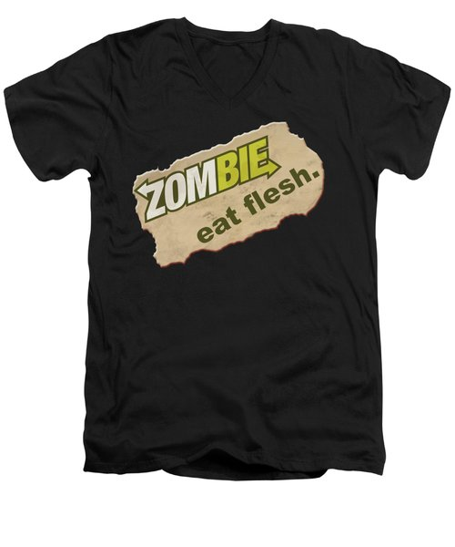 Zombie - Eat Flesh Men's V-Neck T-Shirt